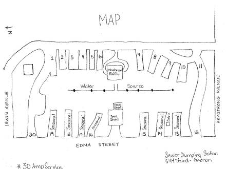 Winnipegosis Campground Map