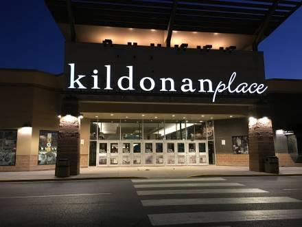 Kildonan Place - Front Entrance at Night
